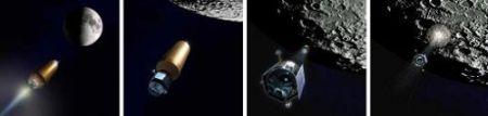 写真中:LCROSSの衝突想像図(画像:NASA)
