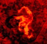 1972年の磁気嵐。科学者たちが「タツノオトシゴ」と呼んでいるフレア。