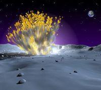 隕石衝突の想像図