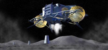 月面着陸想像図