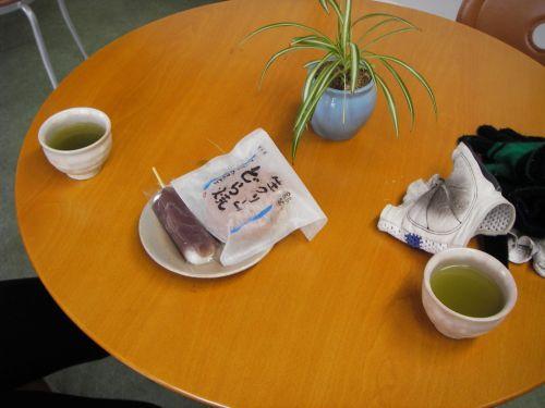 和菓子の松埜さんで休憩