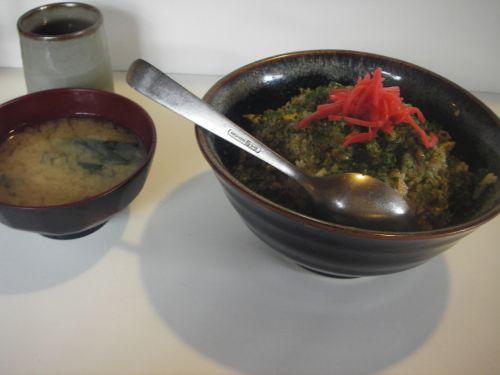 食堂くろきの納豆チャーハン