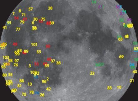 隕石衝突地図