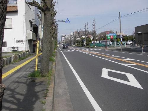 ヨークマート前の道