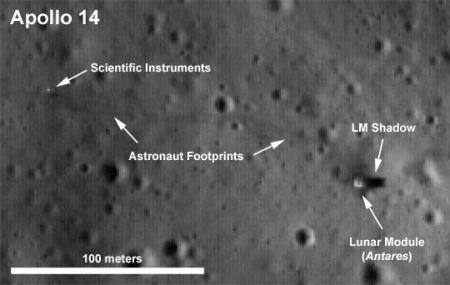アポロ14号着陸地点