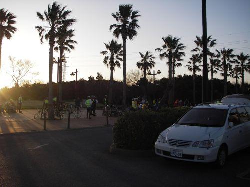 早朝の袖ヶ浦公園