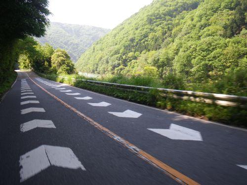 淀川沿いの道