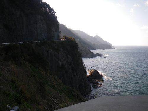 丹後半島の海岸線