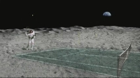 月面テニスの想像図(Credit: Paula Vargas and Terry Longbottom of NASA/JSC)