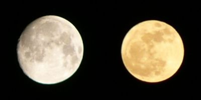 今日の月:4月の月との比較